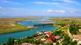 Геническ — мосты и дорога на Арабатскую Стрелку