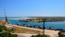 Поворотная веб-камера с видом на порт и мосты
