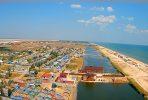 Поворотная веб-камера на вышке в Счастливцево: панорамный вид Арабатской Стрелки