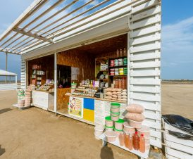 Мини-рынок возле озера