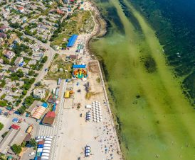 Центральный пляж в Геническе