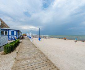 Пляж в Генгорке возле курорта «Арабатка»