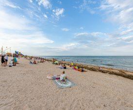 Пляж в Счастливцево