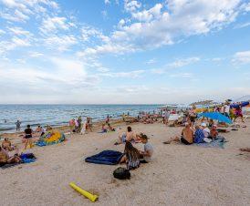Пляж возле стометровки