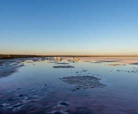 Добыча соли на озере кустарным методом