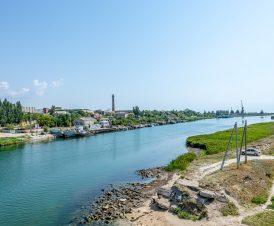 Вид с моста на Геническ