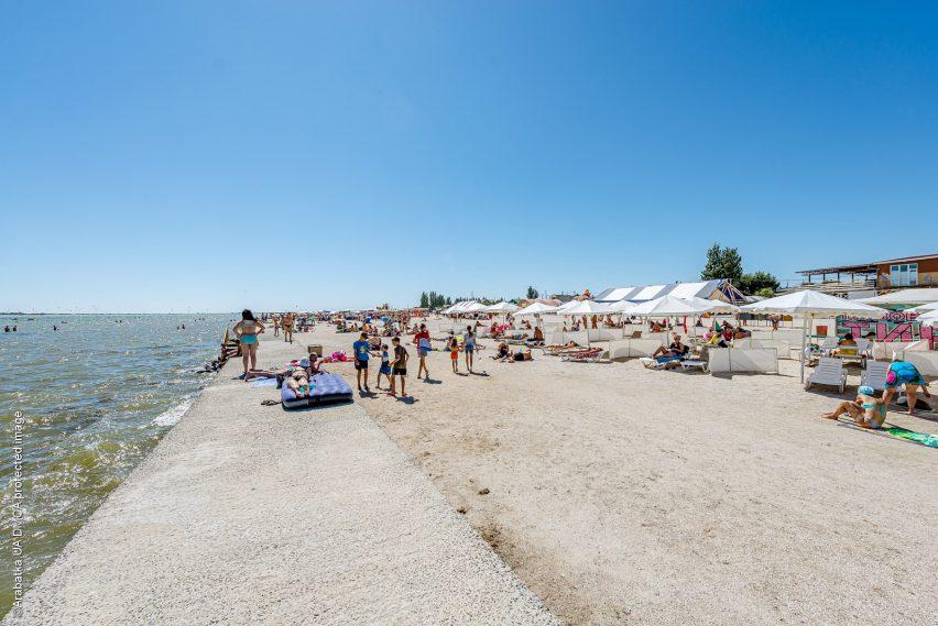 Геническ центральный пляж