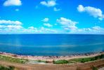 Веб-камера в Геническе: дикий пляж и Азовское море