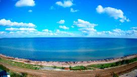 Веб-камера Геническа — дикий пляж и море