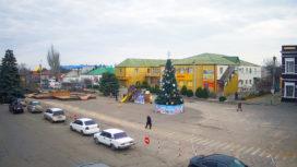 Площадь Возрождения в Геническе (центральная площадь)