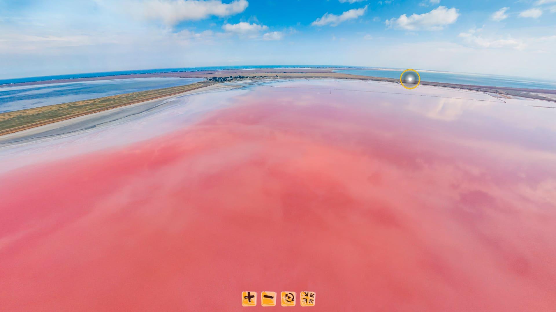 Панорама озера с высоты 140 метров