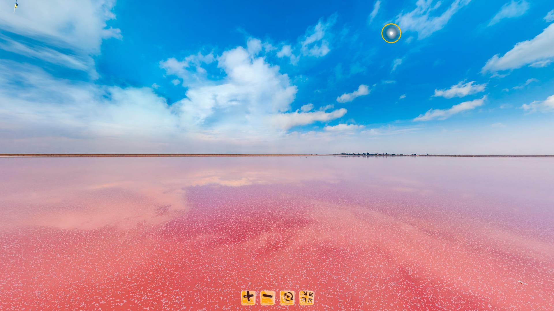 Панорама озера с высоты от 3 до 5 метров